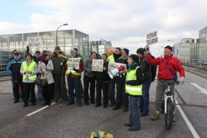 Xplain protesting over the long closure of Secklow Gate, 2011.