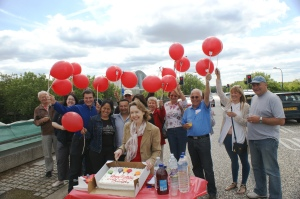 market traders and Xplain supporters celebrate reopening of SGB