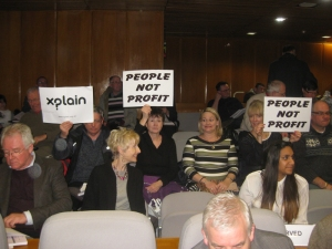 lobbying to protect our city centre in the Council chamber Feb 2013