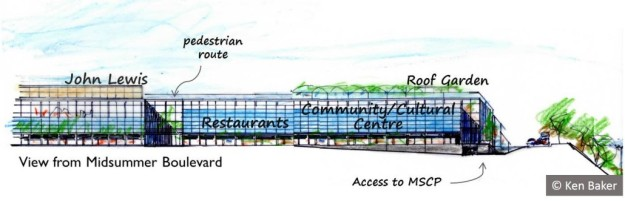Creative alternative to Hermes' lifeless multi-storey car park by CMK Town Council