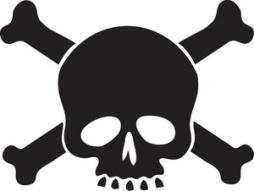 skull, crossbones